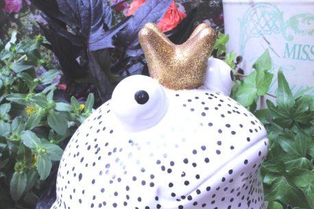 Pomme Pidou Spardose Frosch Freddy Black & White Punkte
