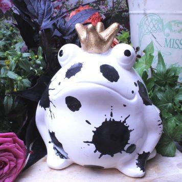 Pomme Pidou Spardose Frosch Freddy Black & White Schwarze Klekse
