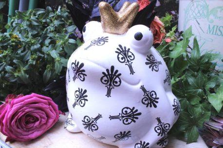 Pomme Pidou Spardose Frosch Freddy Black & White Symbole