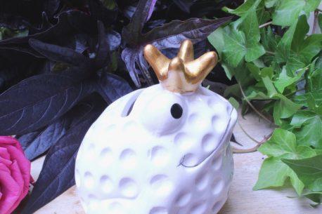 Pomme Pidou Spardose Frosch Freddy White Golf Schäger