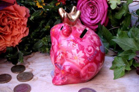 Pomme Pidou Spardose Frosch Klein Pink