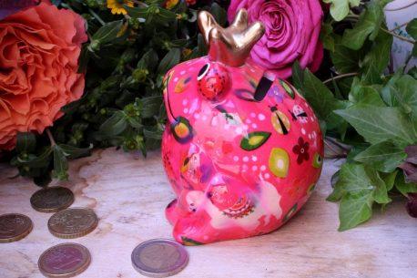 Pomme Pidou Spardose Frosch Klein Rosa