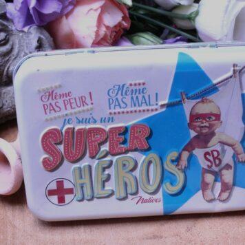 Blechbox Retro Pflaster Super Hero