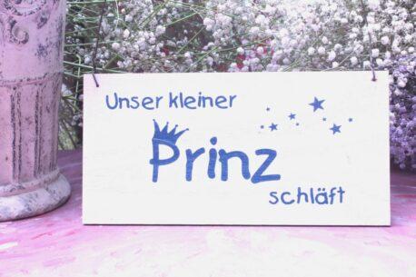 Deko Holzschild Coole Designs Unser kleiner Prinz schläft