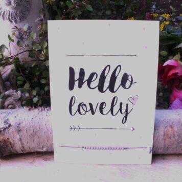 Glückwunsch Karte mit Wunscharmband Hello Lovely