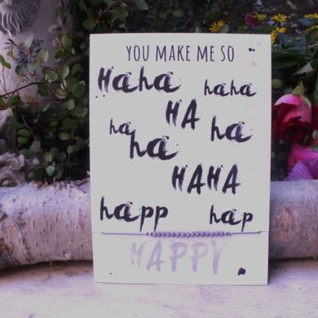 Glückwunsch Karte mit Wunscharmband You Make Me So Happy