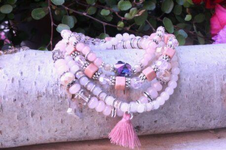 Juleeze Armband Set Rose Silber