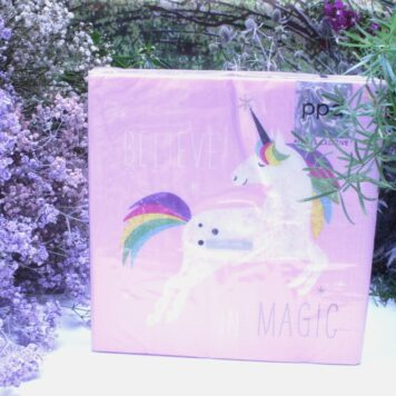 Servietten Einhorn Design Believe in Magic