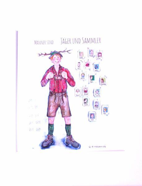 SweetDesign by Nala Passpartout Männer sind Jäger und Sammler