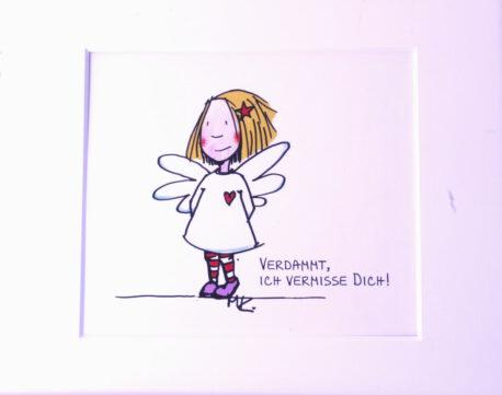 SweetDesign by Nala Passpartout Verdammt, Ich Vermisse Dich!