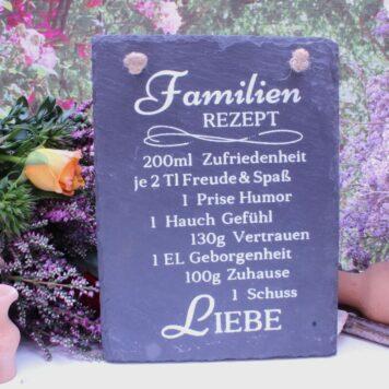 Deko Schieffer Schild Coole Designs Aufhänger Familienrezept