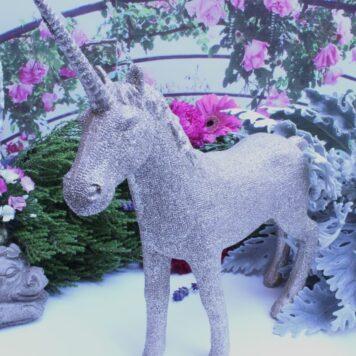Einhorn Dekofigur Unicorn Fantasy Gold