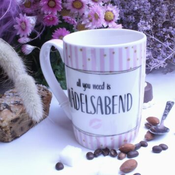 PPD Henkelbecher Sprüche Tasse Rosa All you need is Mädelsabend