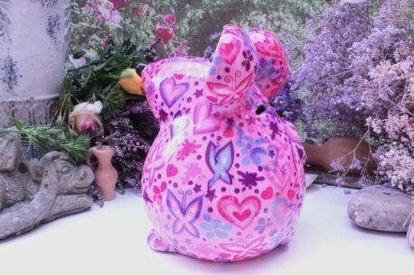 Pomme Pidou Spardose Maus Ini Pink Herz & Schmetterlinge