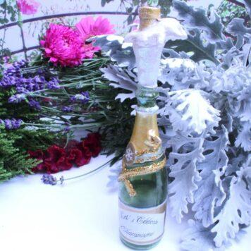 Champagner Flaschen Deko