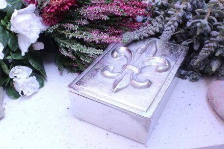 Colmore Edle Aluminium Dose Aufbewahrung Fleur-de-Lis