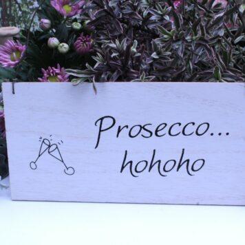 Deko Holzschild Coole Designs Prosecco hohoho