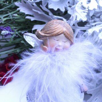 Dekofigur Engel Schutzengel Mädel