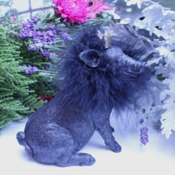 Dekofigur Schutzengel Glücksschwein Black