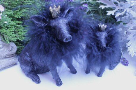 Dekofigur Schutzengel Glücksschwein Black Klein
