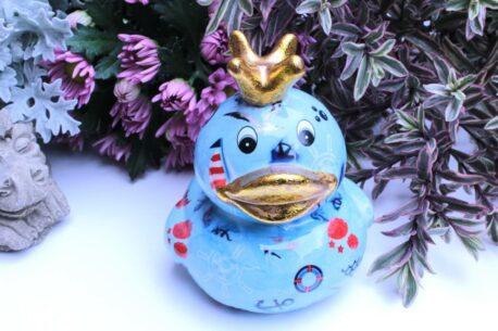 Pomme Pidou Spardose Ente Ducky Hellblau