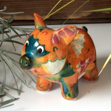 Pomme Pidou Spardose Mini Schweinchen Babette Orange