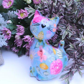 Pomme Pidou Spardose Petite Katze Kitty Bleu
