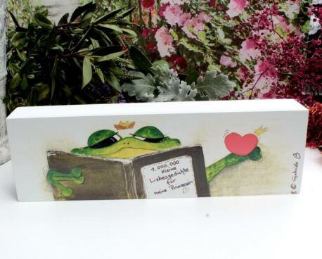 Sabo Design Holzbild Wandbild Spruch 1.000.000 kleine Liebesgedichte für meine Prinzessin