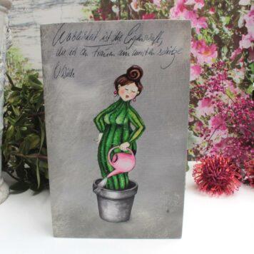Sabo Design Holzbild Wandbild Weiblichkeit ist die Eigenschaft, die ich an Frauen am meisten schätze