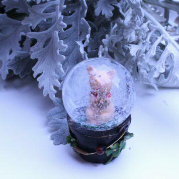 Schneekugel Glimmerkugel Glücksschweinchen Hufeisen