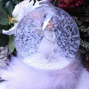 Schneekugel Glimmerkugel Schutzengel Glaskugel3