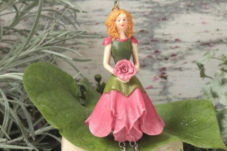 Deko Figur Dekohänger Blumenfee Elfe Röschen