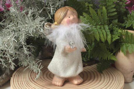 Dekofigur Engel Schutzengel Glasherz