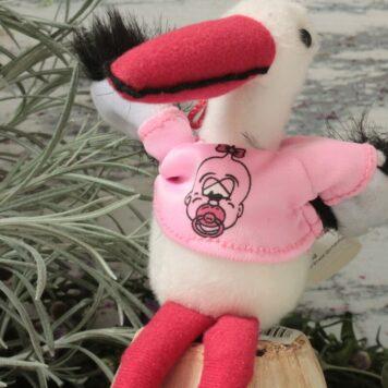 Storch Plüschtier zum Hängen Rosa für Mädels