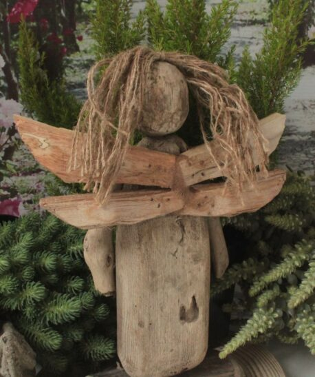 Weihnachtsengel Holzengel Handarbeit
