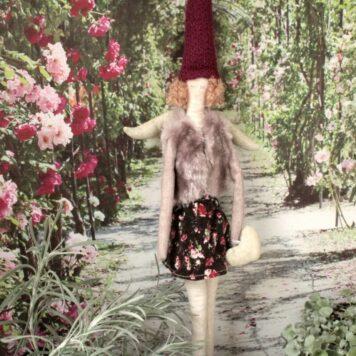 Zarter Schutzengel Alicia aus Stoff zum Aufhängen