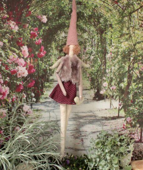 Zarter Schutzengel Licia aus Stoff zum Aufhängen