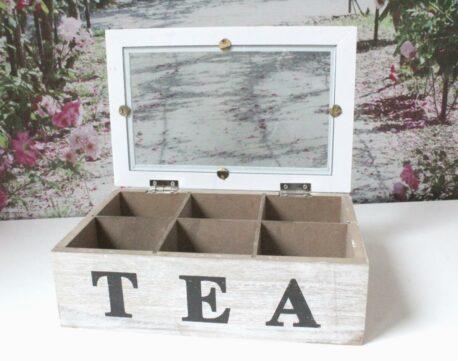 Aufbewahrungsbox Holzbox Teebox Teekiste