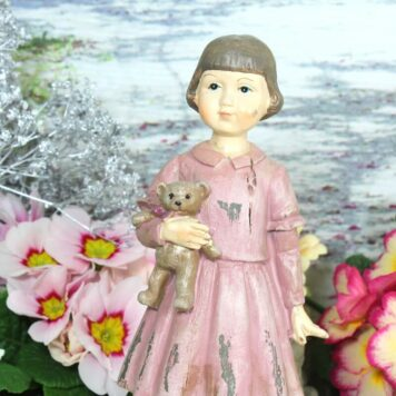 Dekofigur Clayre & Eef Mädchen Figur mit Bärchen