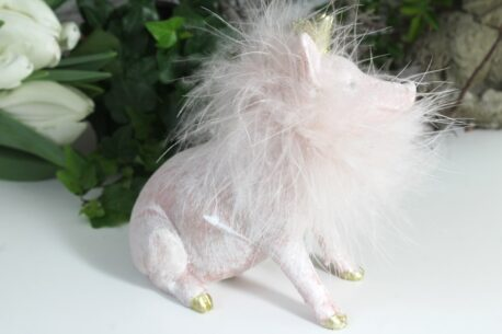 Dekofigur Schutzengel Glücksschwein Rosa