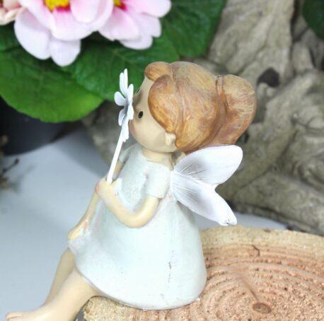 Dekofigur Schutzengel Kantenhocker Flower