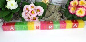 Happy Birthday Kerzen Set Würfel