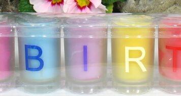 Happy Birthday Kerzen Set im Gläschen