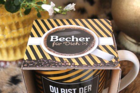 Henkelbecher Sprüche Kaffeetasse Du Bist Der Beste