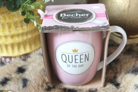 Henkelbecher Sprüche Kaffeetasse Queen Of The Day