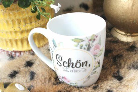 Henkelbecher Sprüche Kaffeetasse Schön Dass Es Dich Gibt