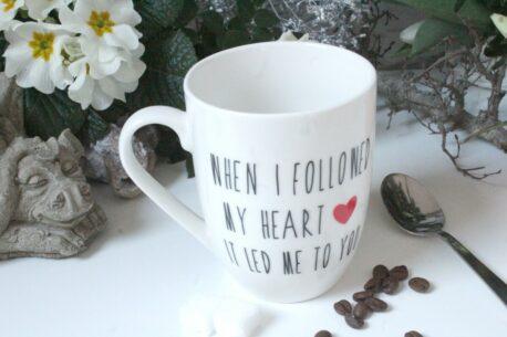 Henkelbecher Sprüche Tasse Kaffeetasse I Love The Person You Are