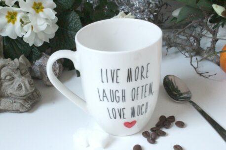 Henkelbecher Sprüche Tasse Kaffeetasse To Love Truly Some On, We Must Laugh With Them