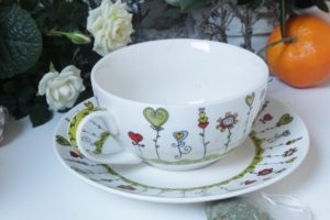 Teeset Teekanne mit Porzellantasse 3tlg.von Wurm