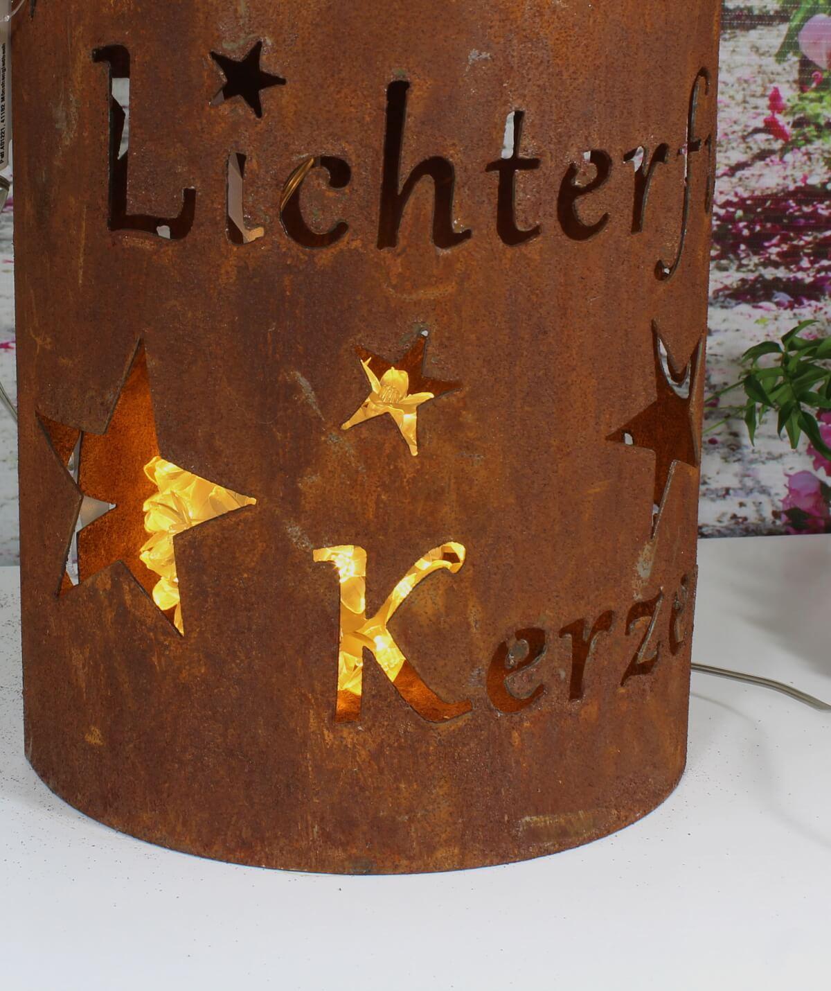Windlicht Kerzenhalter Im Rost Design Elfengarten Shop